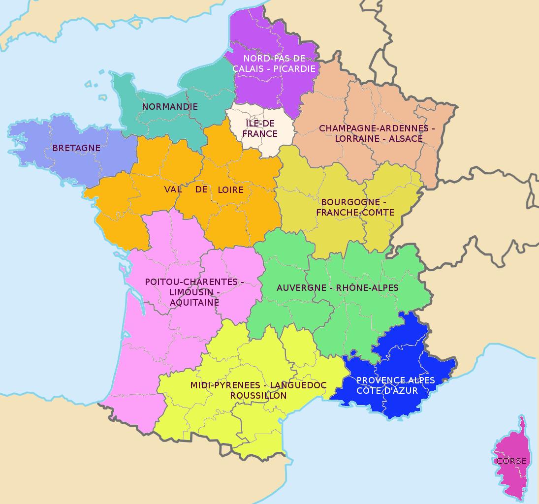 Carte Grise: Nouvelles Régions, Nouvelles Taxes | Aaaep tout Nouvelle Carte Des Régions De France