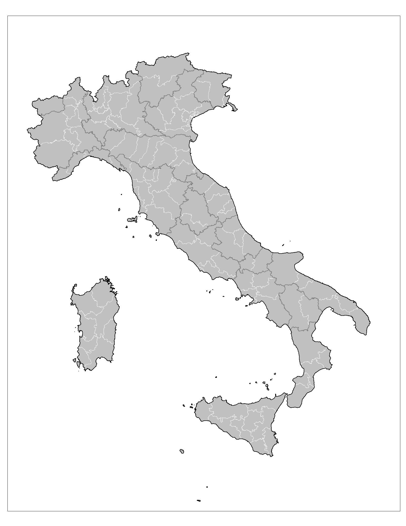 Carte Italie Vierge Numéros Régions, Carte Vierge Des encequiconcerne Carte Des Régions Vierge