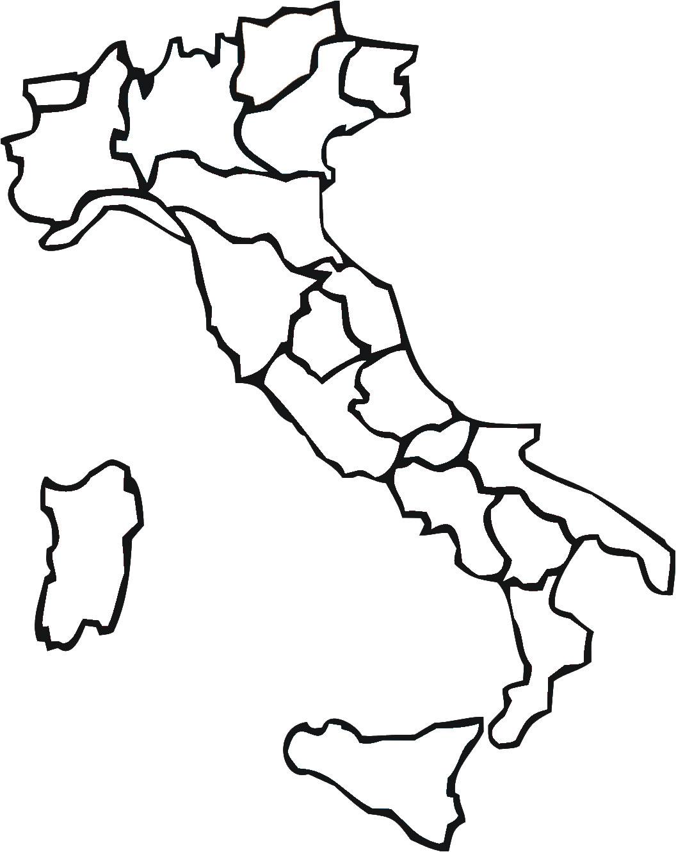 Carte Italie Vierge Régions, Carte Vierge Des Régions De L dedans Carte Des Régions Vierge