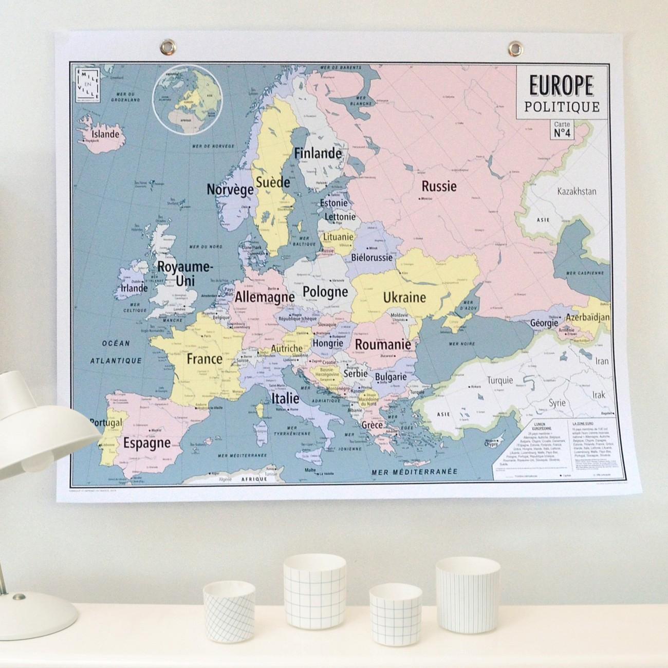 Carte N°4 - Europe Politique pour Carte Europe Capitale