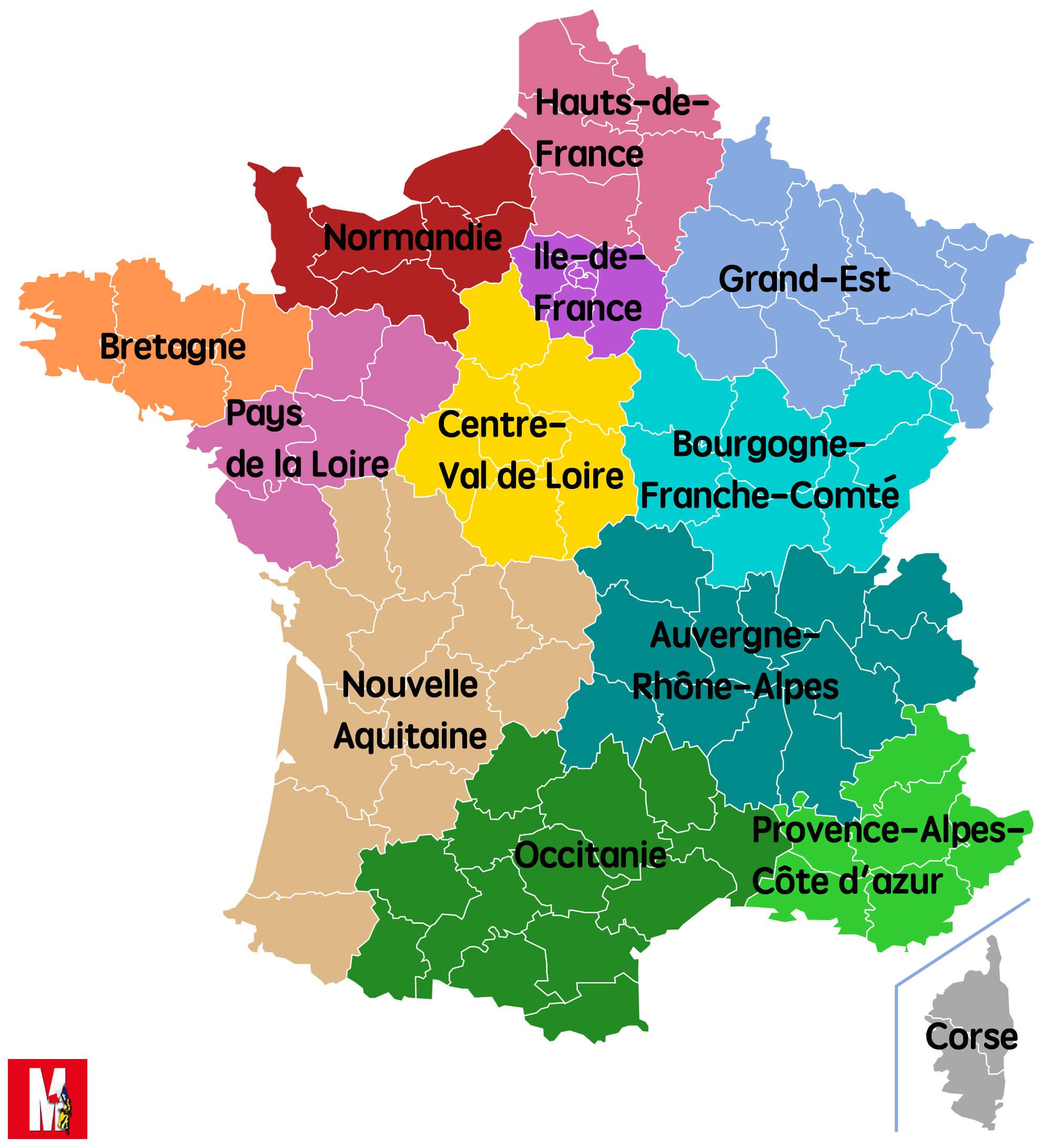 Carte - Nouvelle Aquitaine, Occitanie… Découvrez Le Nouveau avec Nouvelle Carte Des Régions De France