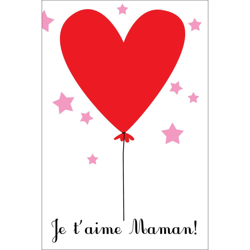 """Carte Pensée Cécile Drevon """"je T'aime Maman"""" avec Texte Maman Je T Aime"""