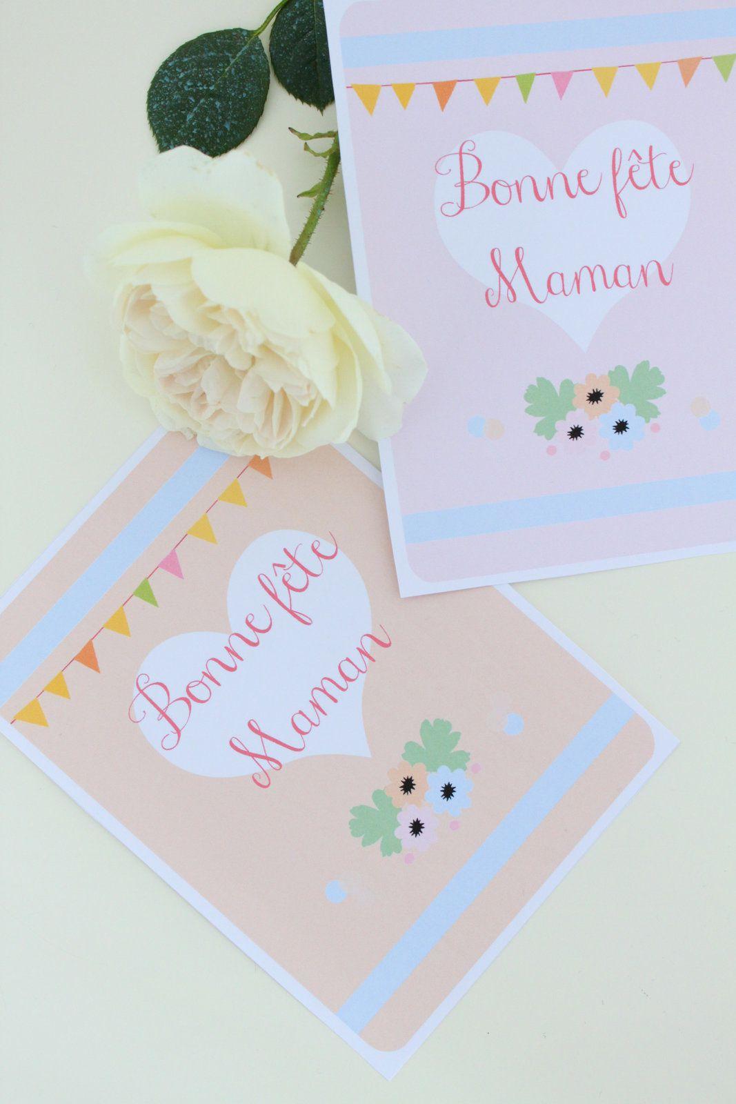 Carte Pour La Fête Des Mères À Imprimer - Avec Ses 10 Ptits dedans Carte Bonne Fete Maman A Imprimer