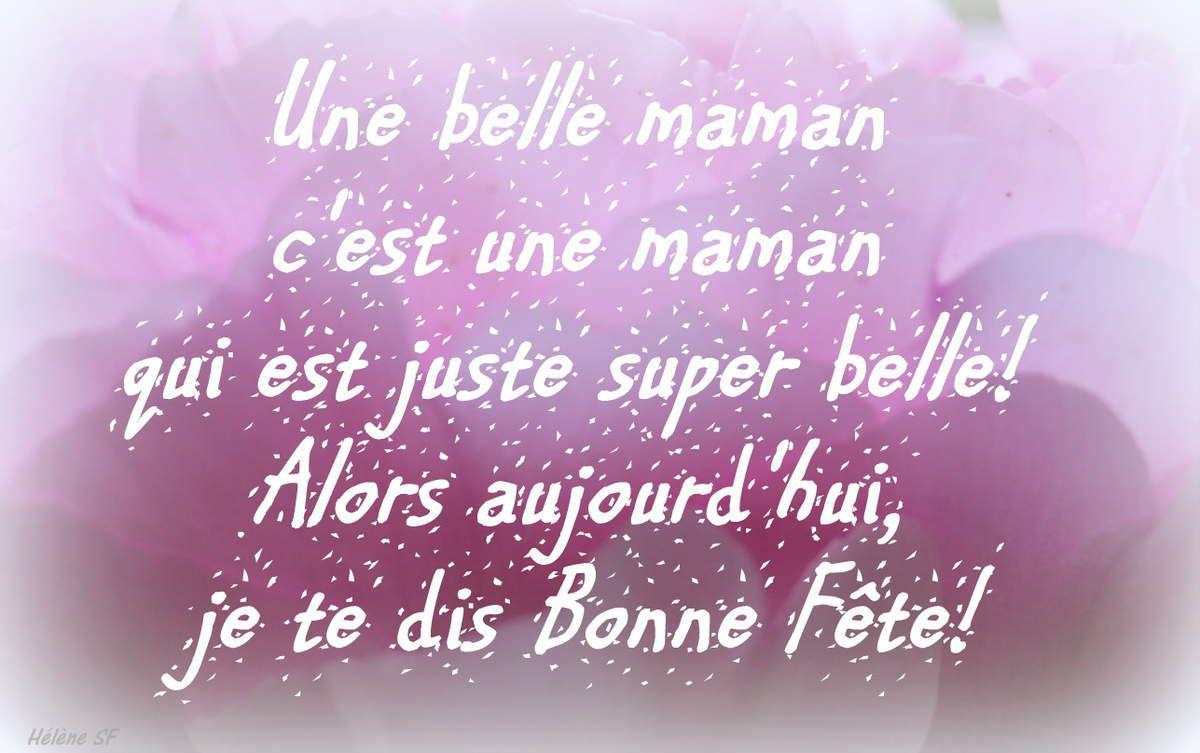 Cartes Bonne Fête Pour Une Gentille Belle-Mère - Hélène Sf pour Carte Bonne Fete Maman A Imprimer