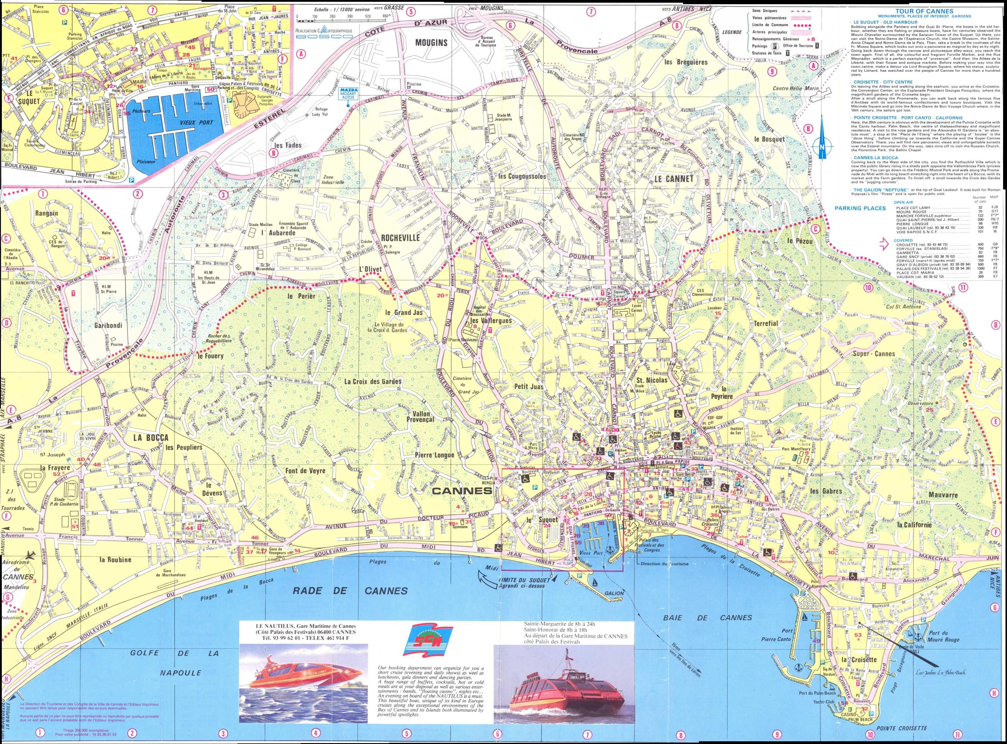 Cartes De Cannes | Cartes Typographiques Détaillées De pour Imprimer Une Carte De France