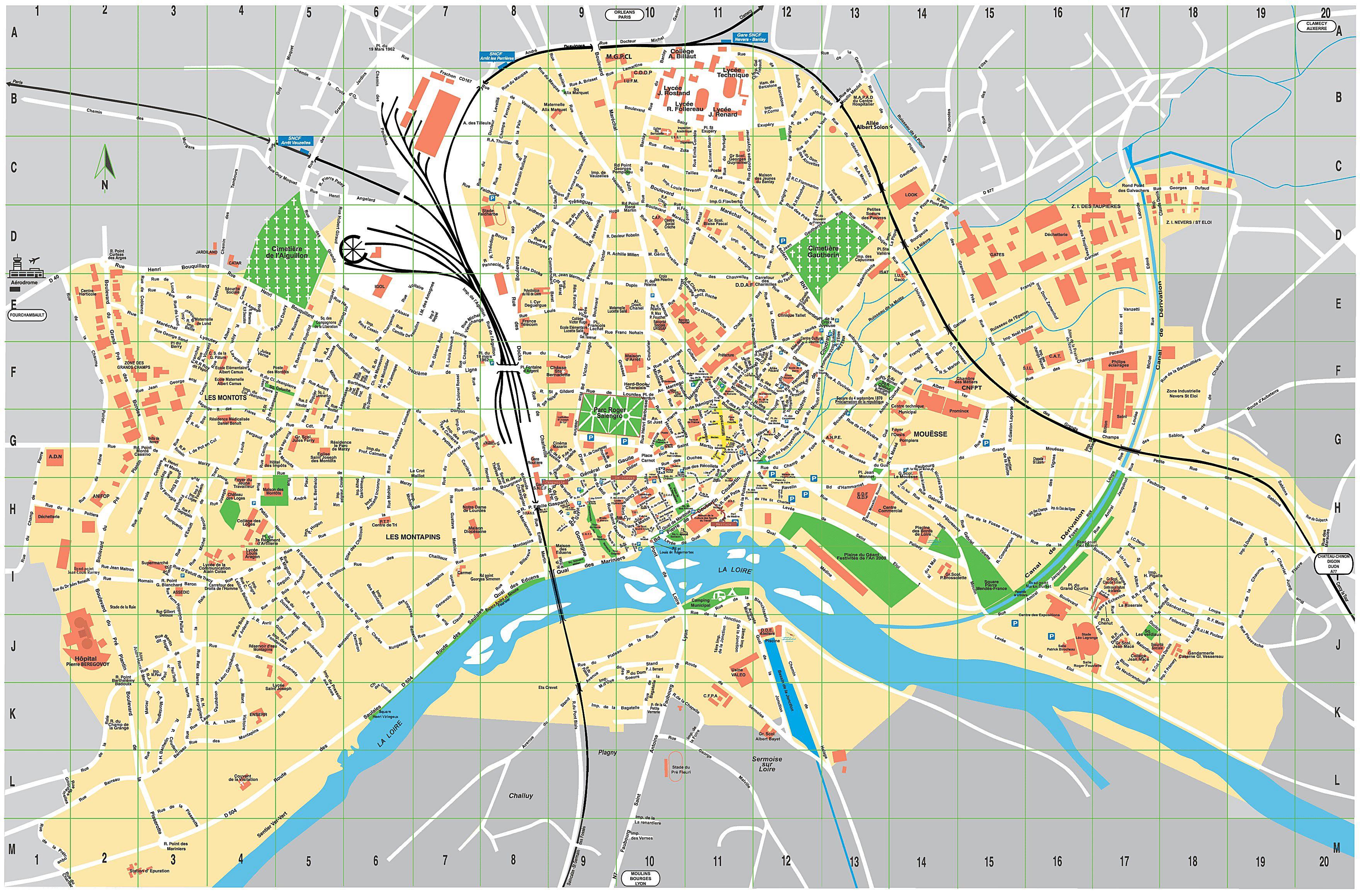 Cartes De Nevers | Cartes Typographiques Détaillées De avec Imprimer Une Carte De France