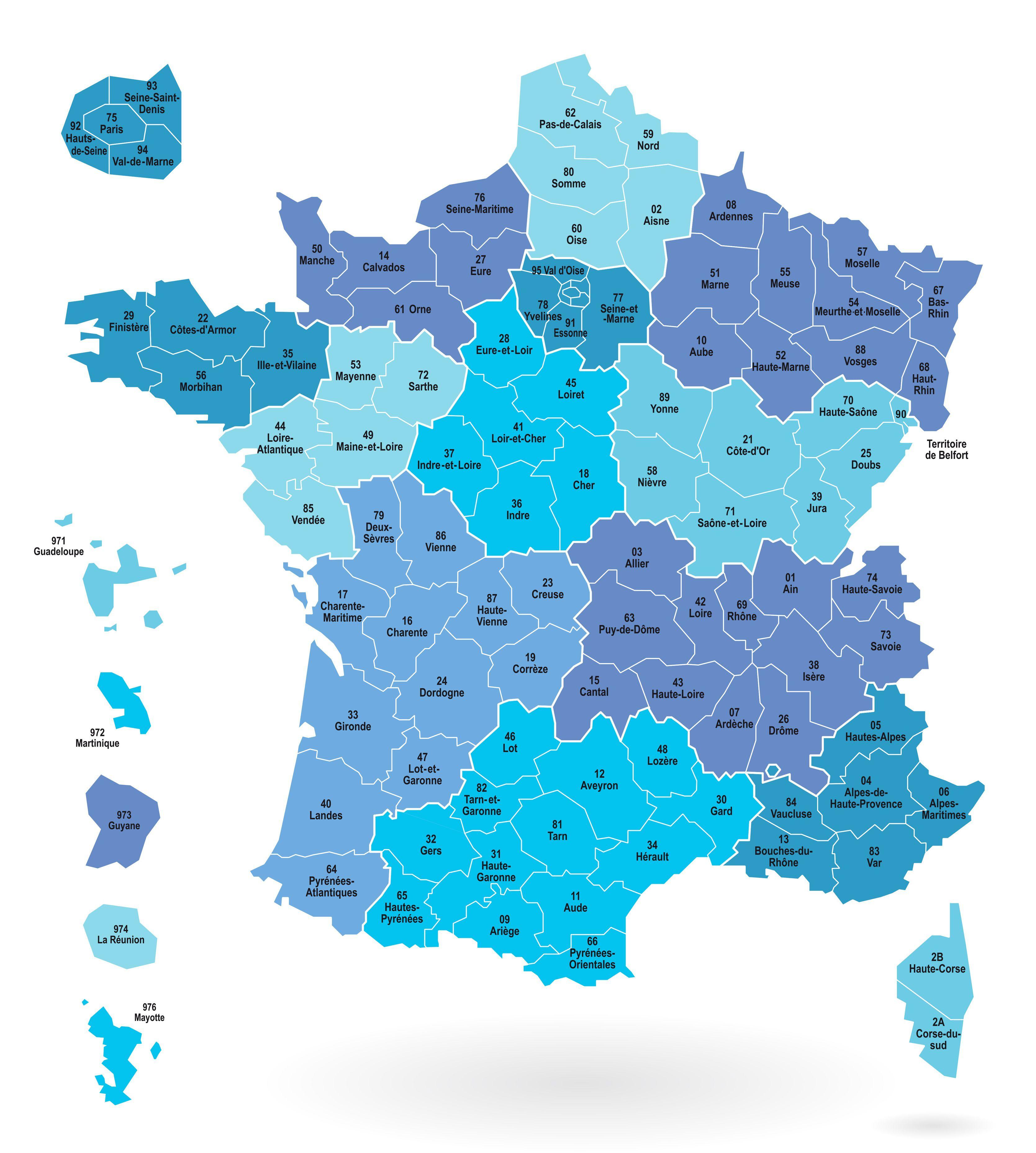 Cartes Des Départements Et Régions De La France - Cartes De tout Nouvelle Carte Des Régions De France