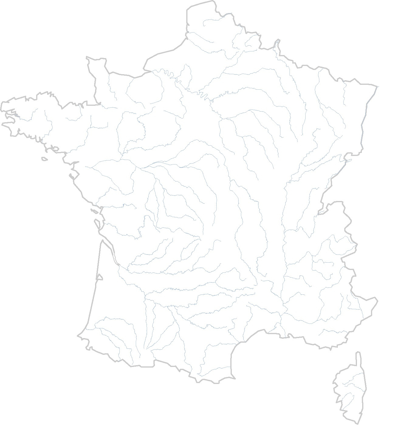 Cartes Muettes De La France À Imprimer - Chroniques intérieur Carte De France Avec Département À Imprimer
