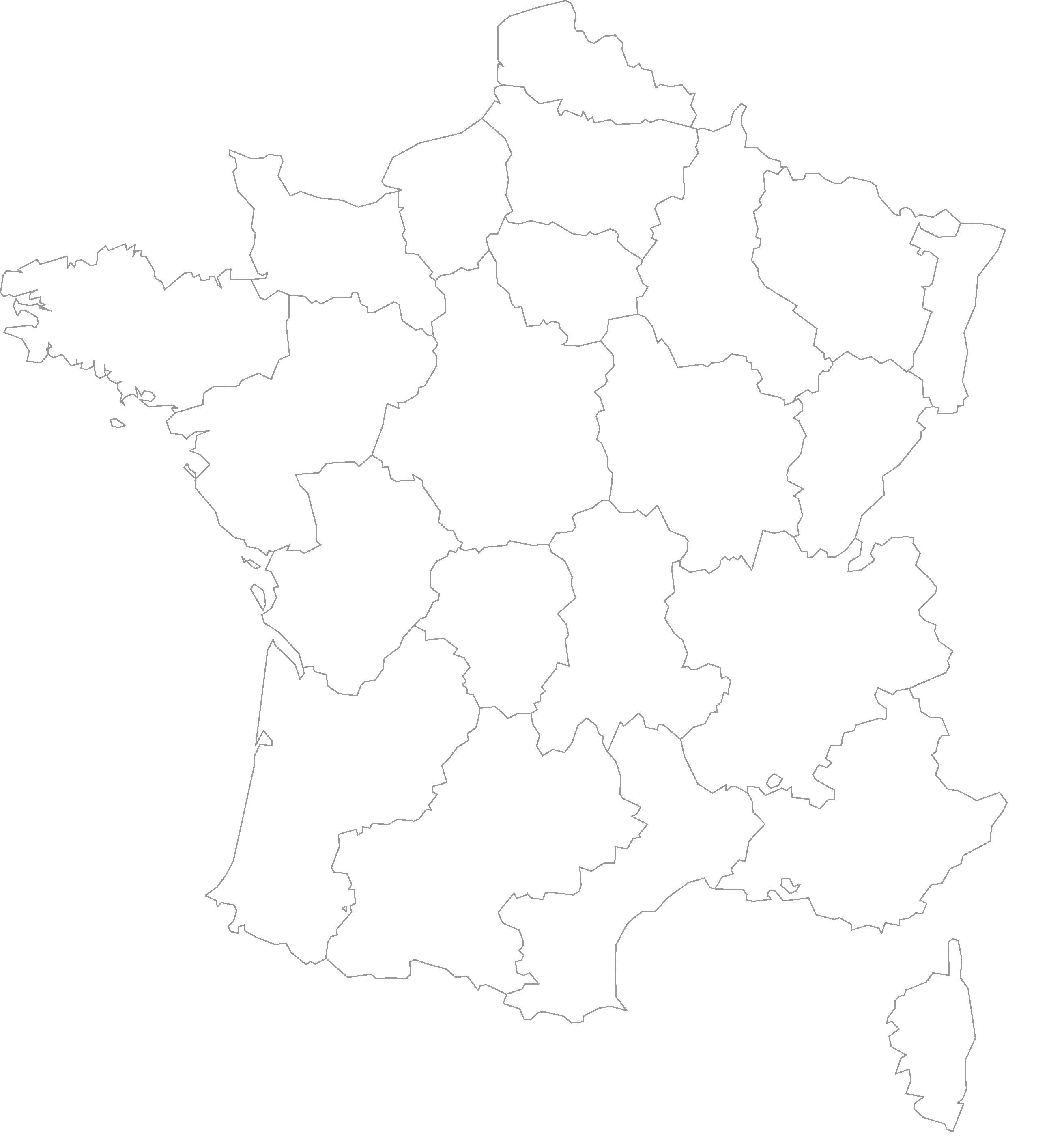 Cartes Muettes De La France À Imprimer - Chroniques intérieur Imprimer Une Carte De France