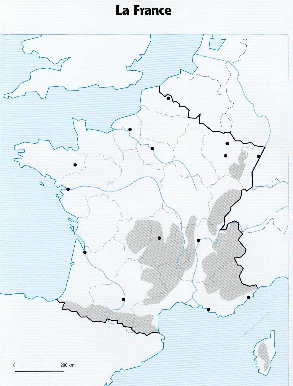 Cartes Pour S'entraîner (France : Régions Et Repères destiné Imprimer Une Carte De France