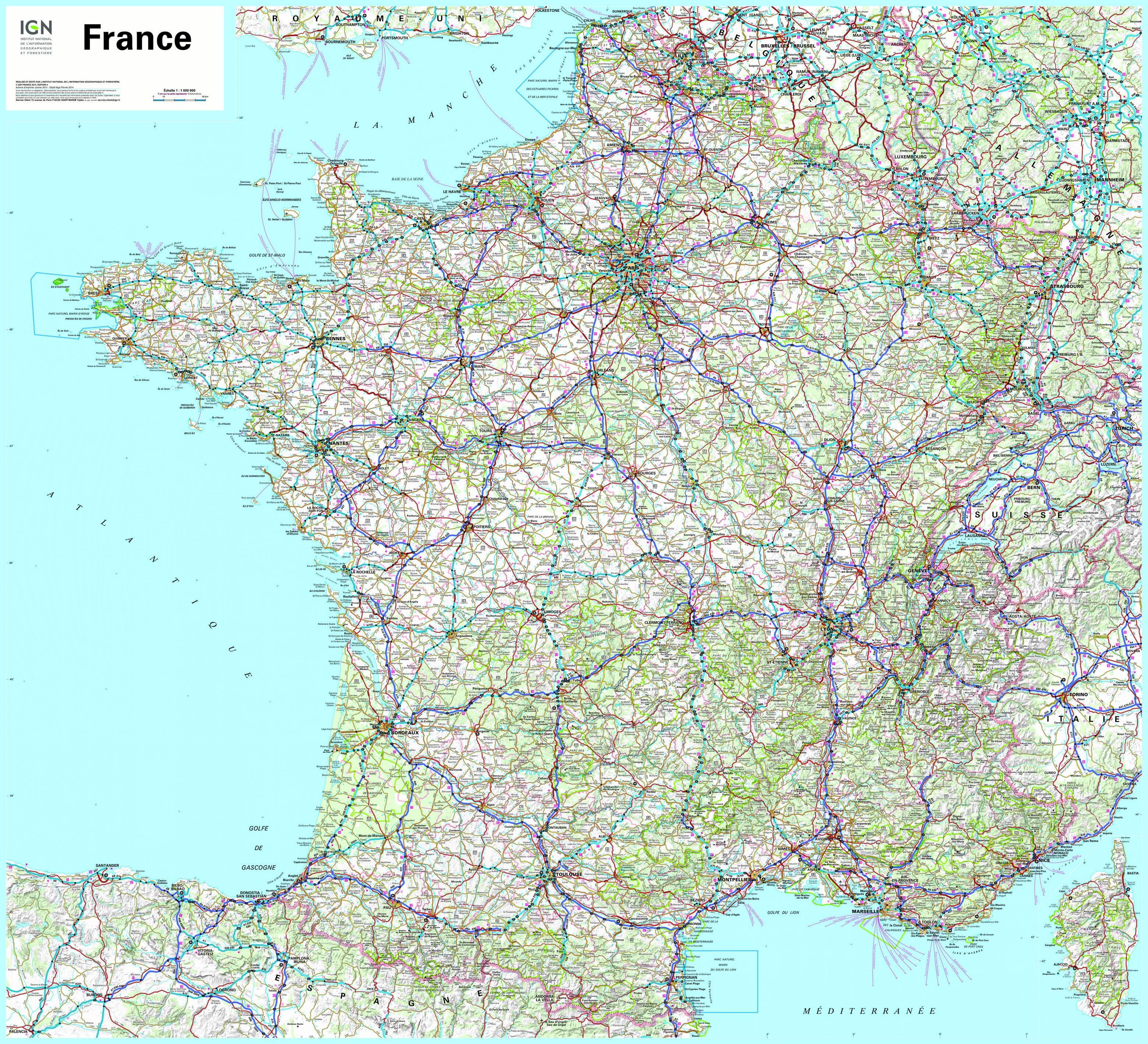 Cartograf.fr : Carte France : Page 3 encequiconcerne Imprimer Une Carte De France