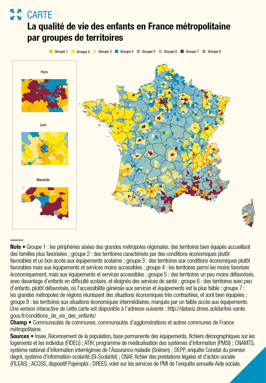 Cartographie De La Qualité De Vie Des Enfants En France encequiconcerne Carte De France Pour Les Enfants