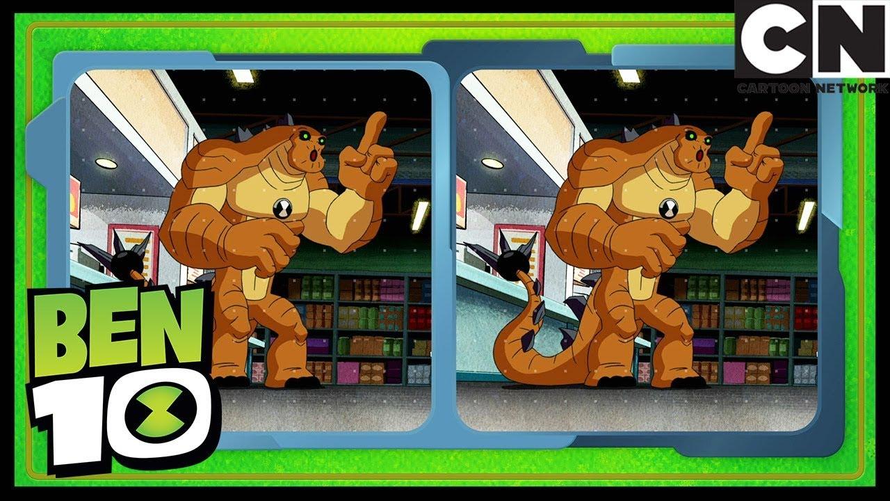 Casse-Tête De Ben 10: Trouve La Différence Et Devine L'alien ! | Jeux Pour  Enfants | Cartoon Network pour Jeux De Différence