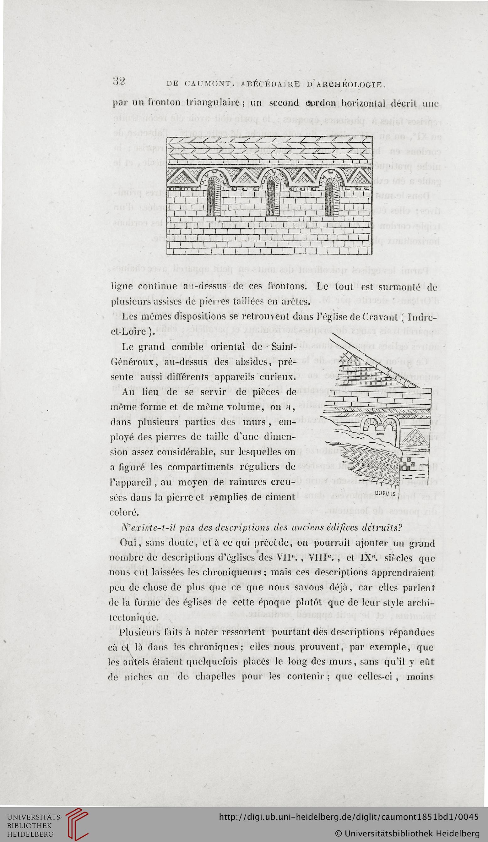 Caumont, Arcisse De: Abécédaire Ou Rudiment D'archéologie avec Exemple D Un Abécédaire