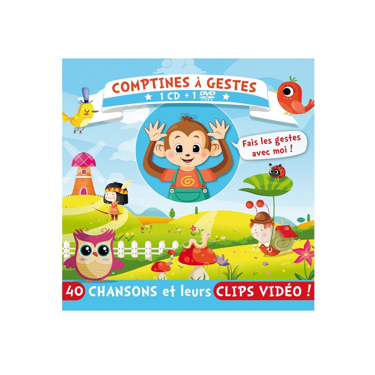 Cd Et Dvd Comptines À Gestes intérieur Petit Moulin Chanson