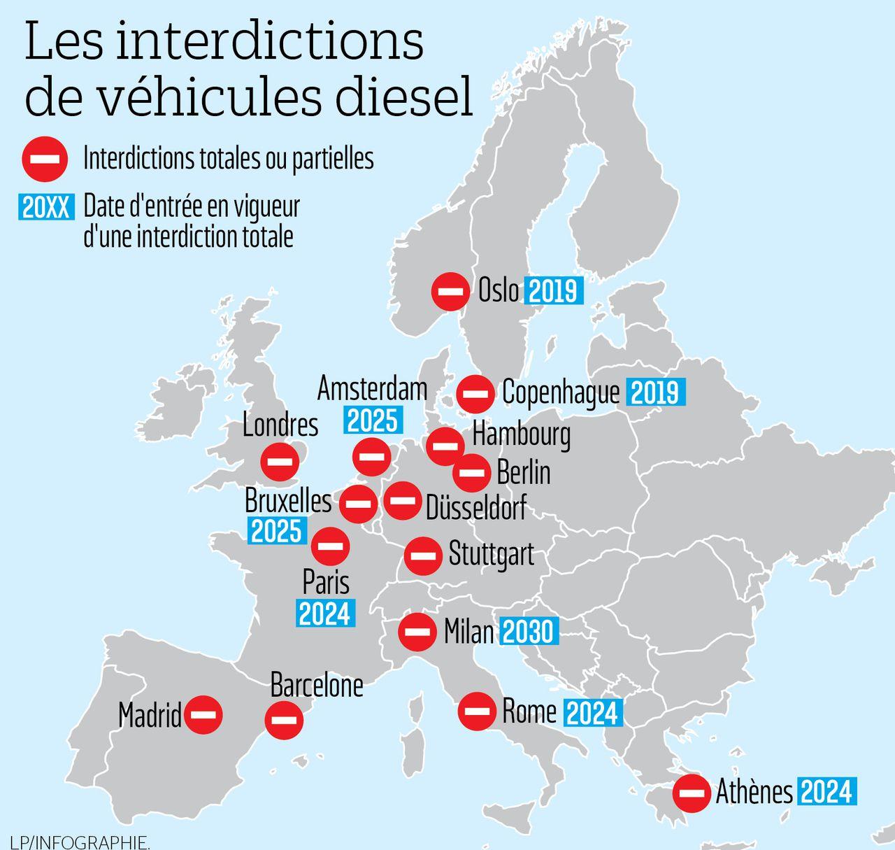 Ces Grandes Villes D'europe Qui S'apprêtent À Bannir Le avec Carte Europe Avec Capitales