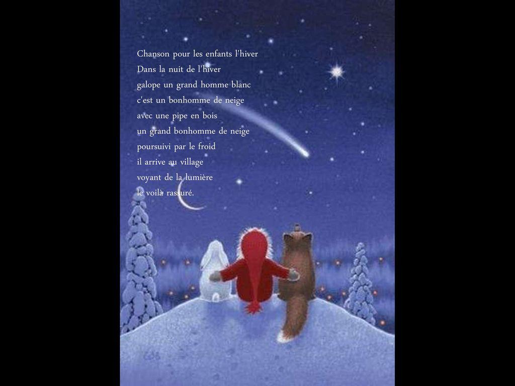 C'est Noël Diaporama De Gi. - Ppt Télécharger concernant Dans La Nuit De L Hiver Chanson
