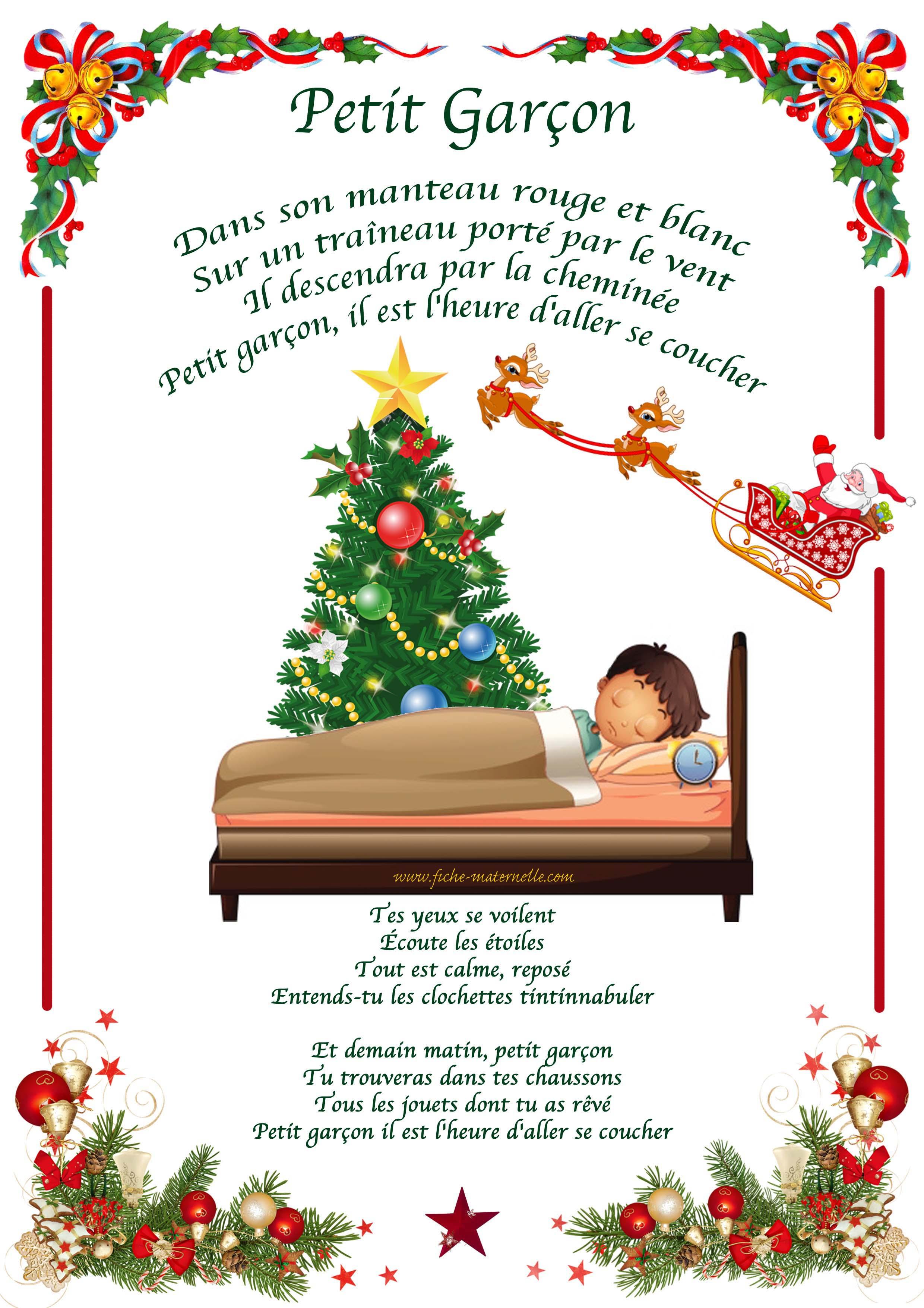 Chanson De Noël En Maternelle à Chanson Dans Son Manteau Rouge Et Blanc