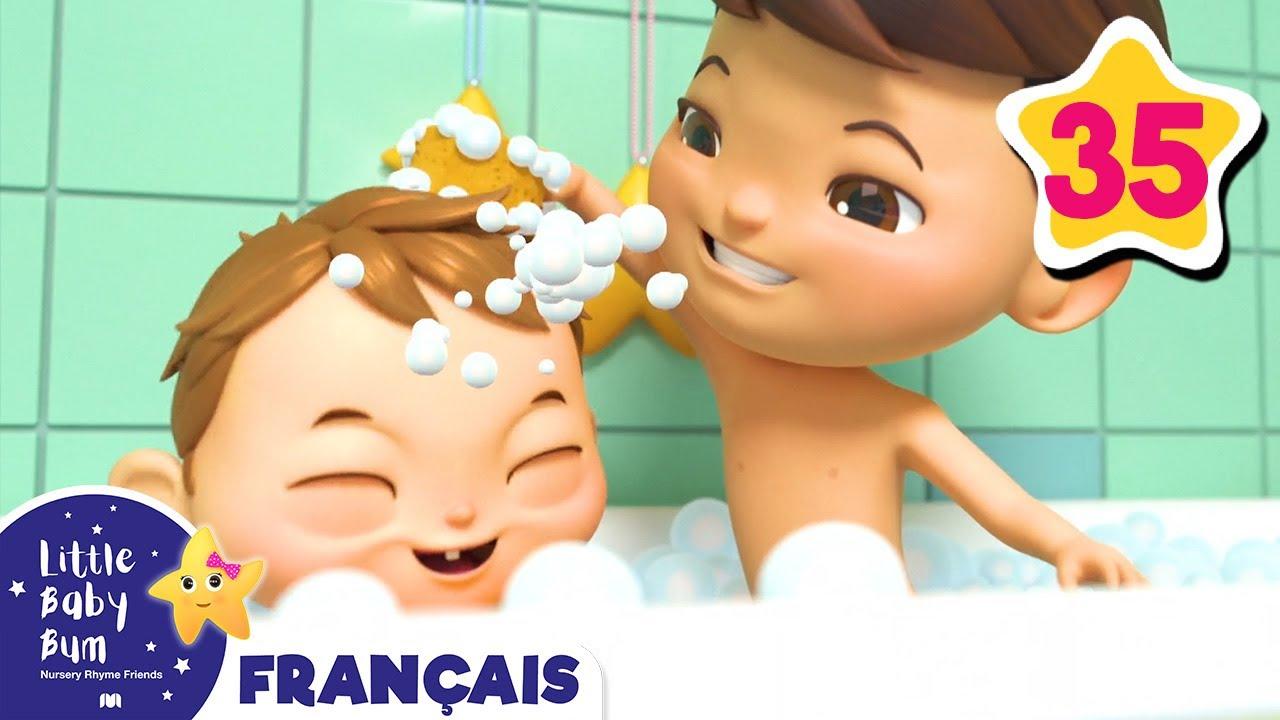 Chanson Du Bain | Comptines Et Chansons Pour Les Bébés | Little Baby Bum En  Français pour Chanson Pour Bebe 1 An