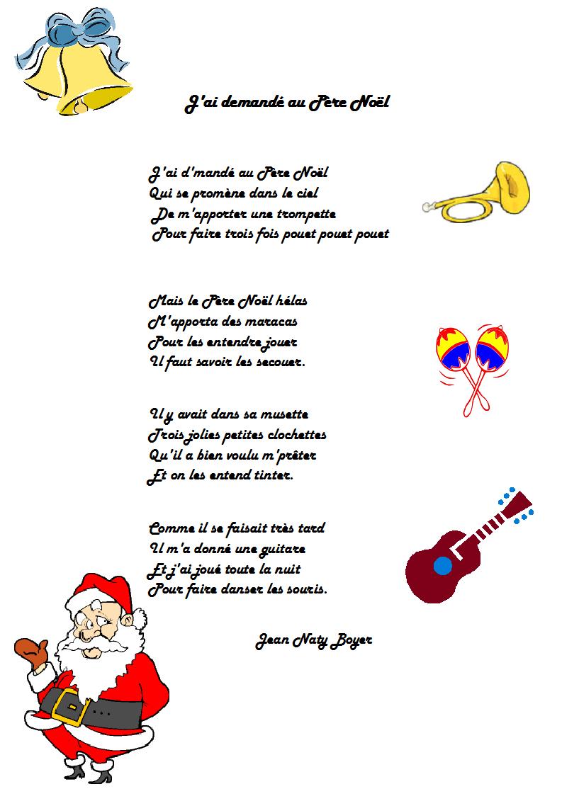 Chanson J'ai Demandé Au Père Noël De Jean Naty-Boyer avec Chanson De Noel Ecrite