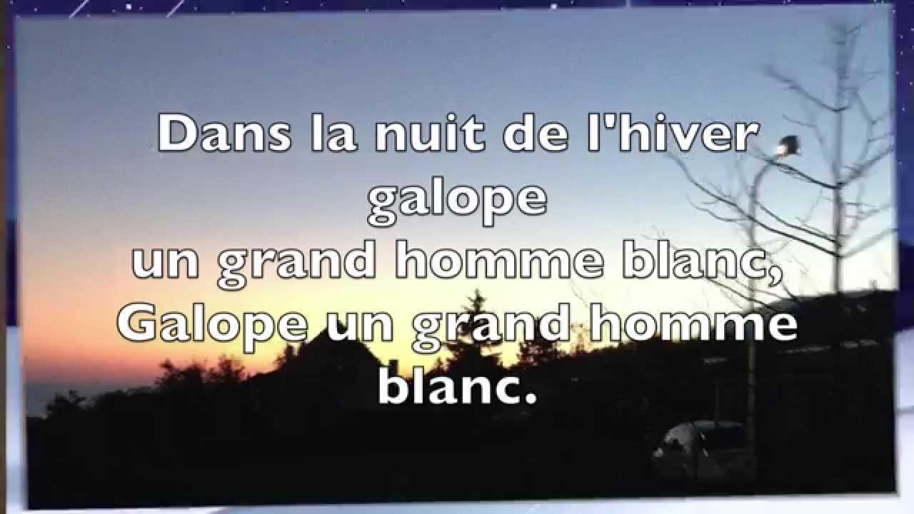 Chanson Pour Les Enfants L'hiver - Jacques Prévert (Karaoké) intérieur Dans La Nuit De L Hiver Chanson