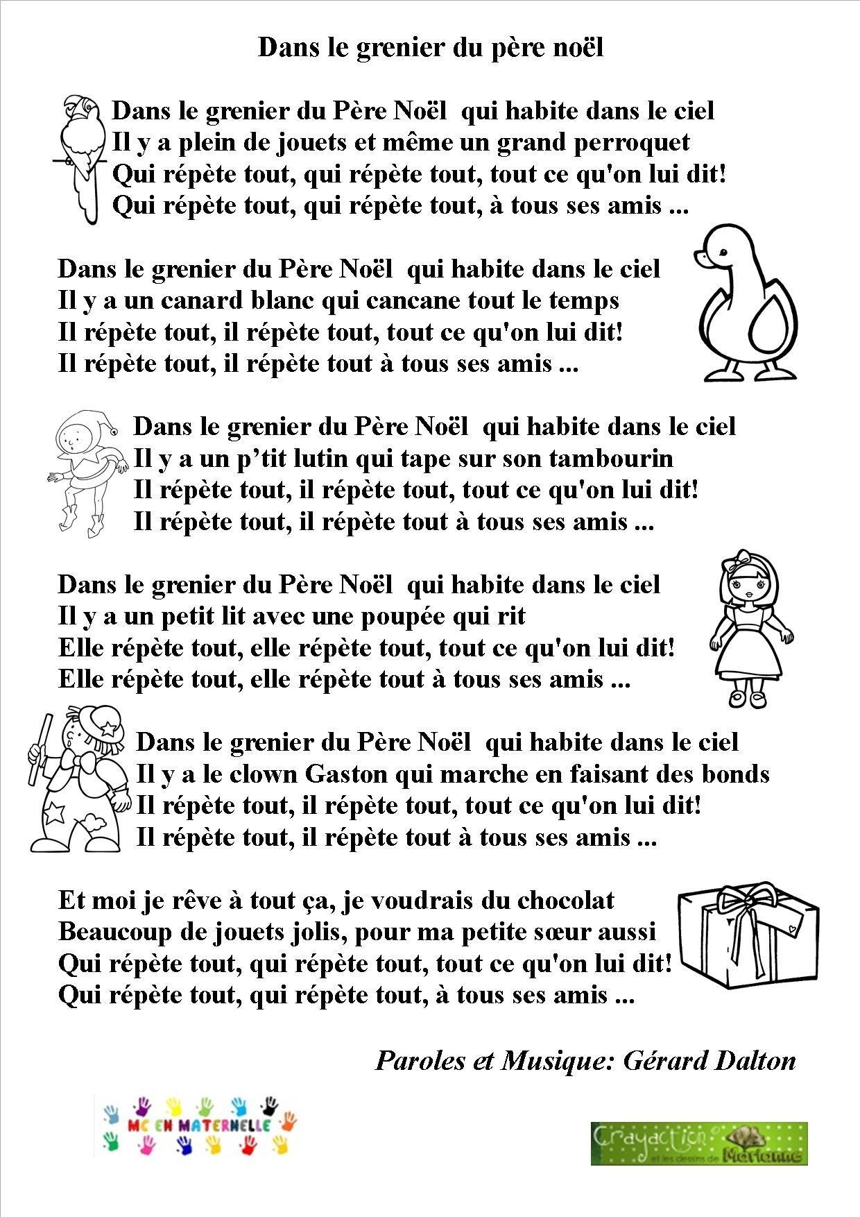 Chansons/comptines – Mc En Maternelle (Avec Images dedans Musique Du Père Noël