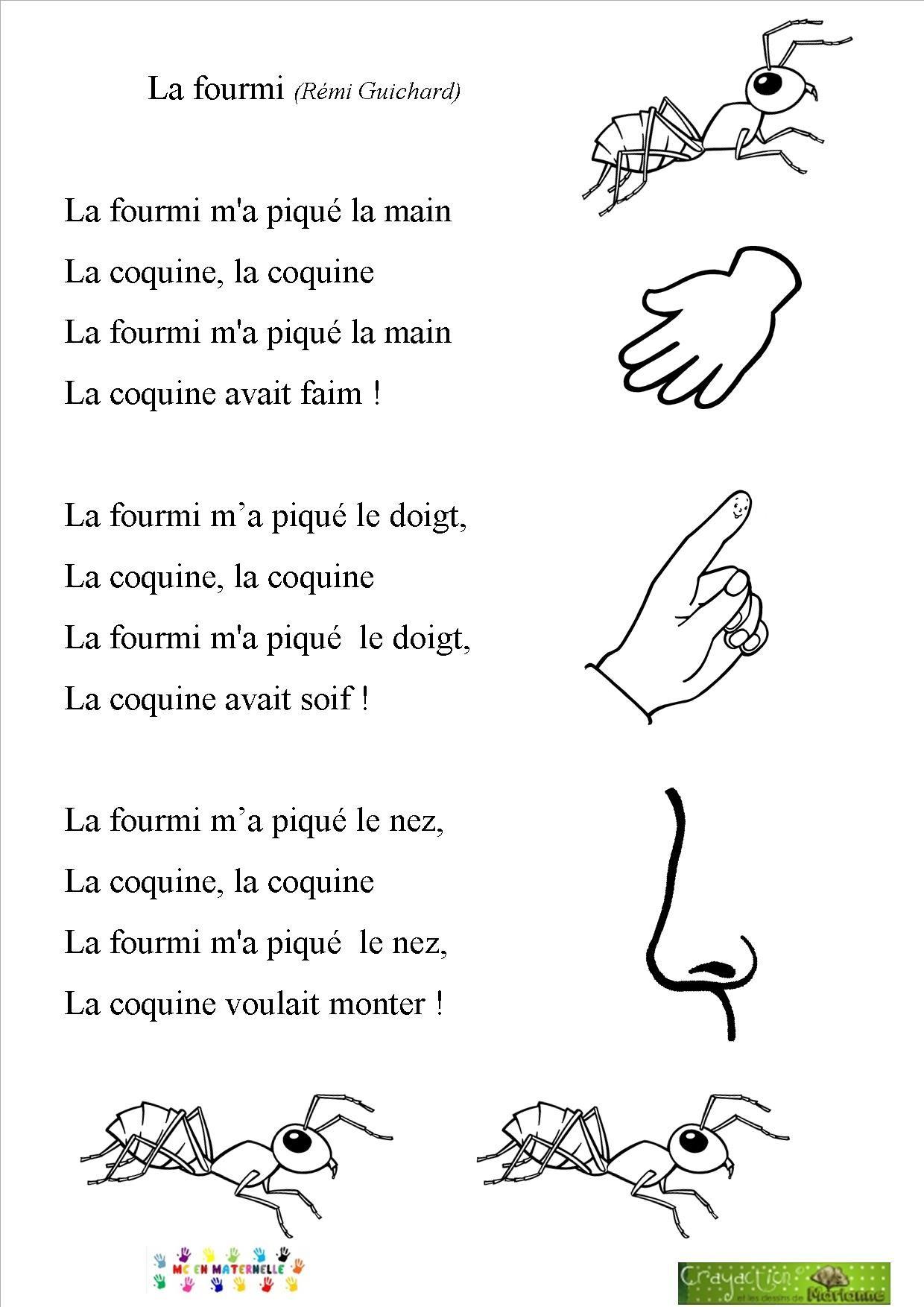 Chansons/comptines – Page 2 – Mc En Maternelle | Chansons concernant Chanson Pour Les Animaux