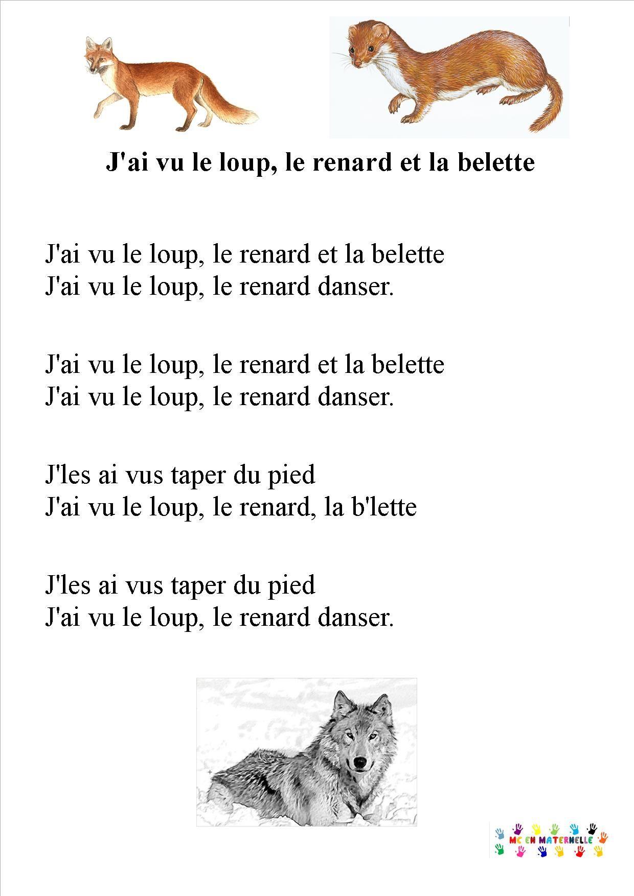 Chansons/comptines – Page 4 – Mc En Maternelle | Comptines serapportantà Chanson Pour Les Animaux