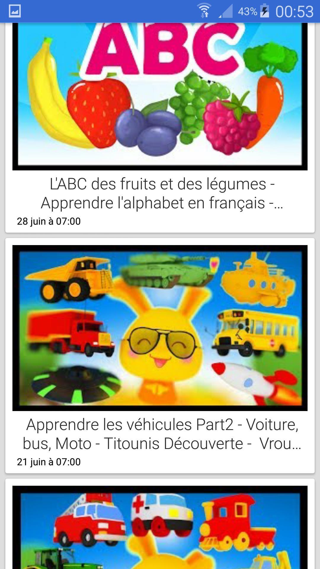 Chansons Des Titounis For Android - Apk Download destiné Chanson Sur Les Fruits Et Légumes