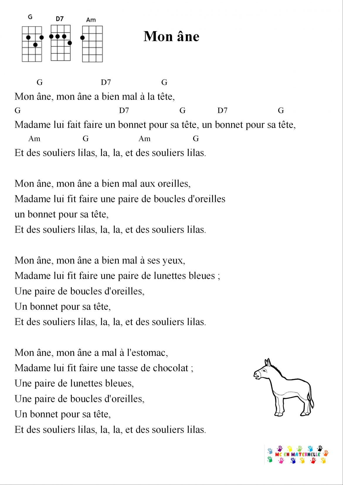 Chansons Ukulélé – Mc En Maternelle destiné Chanson Pour Les Animaux