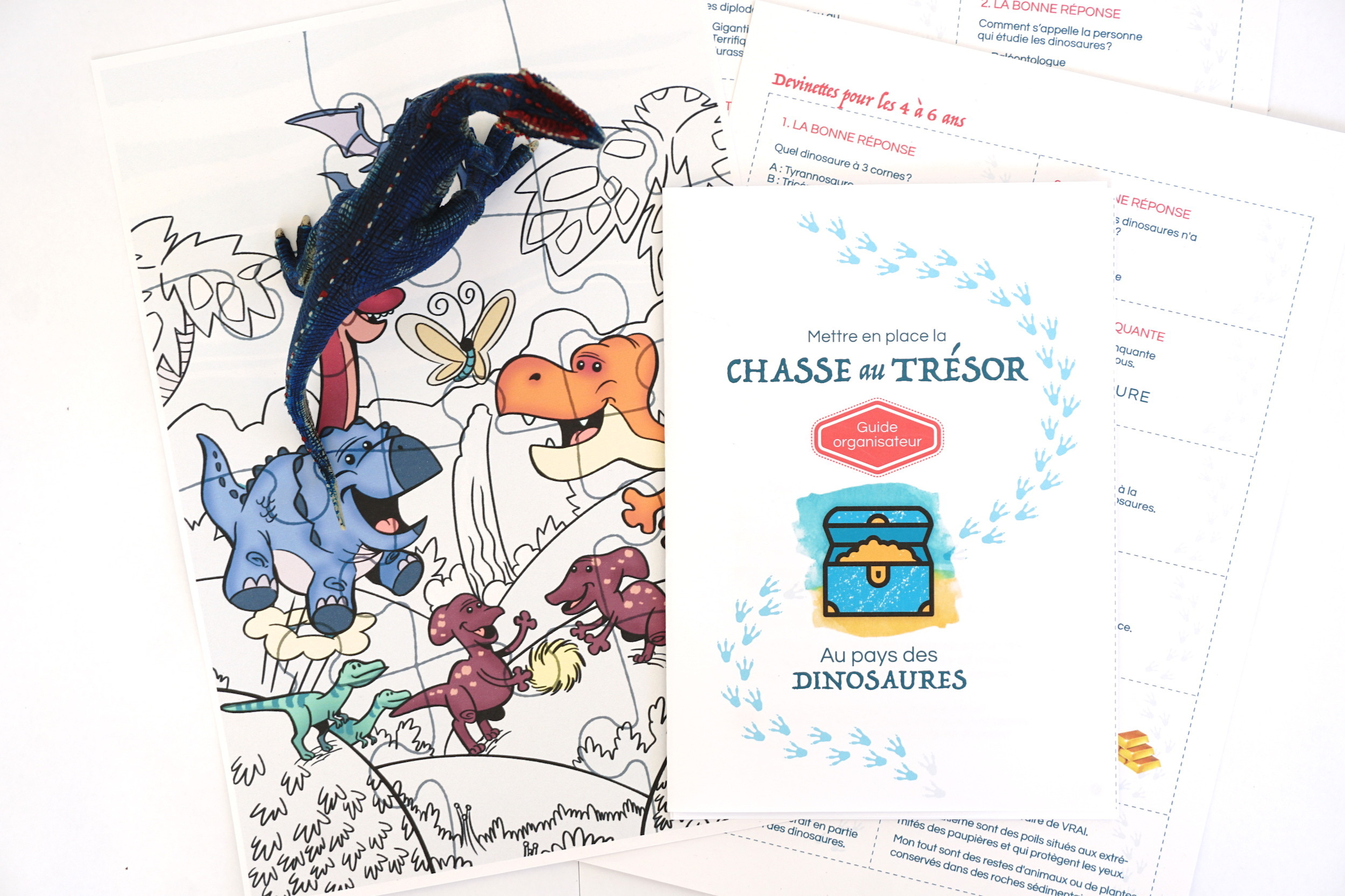 Chasse Au Trésor À Imprimer Immédiatement Sur Les Dinosaures tout Activité Chasse Au Trésor