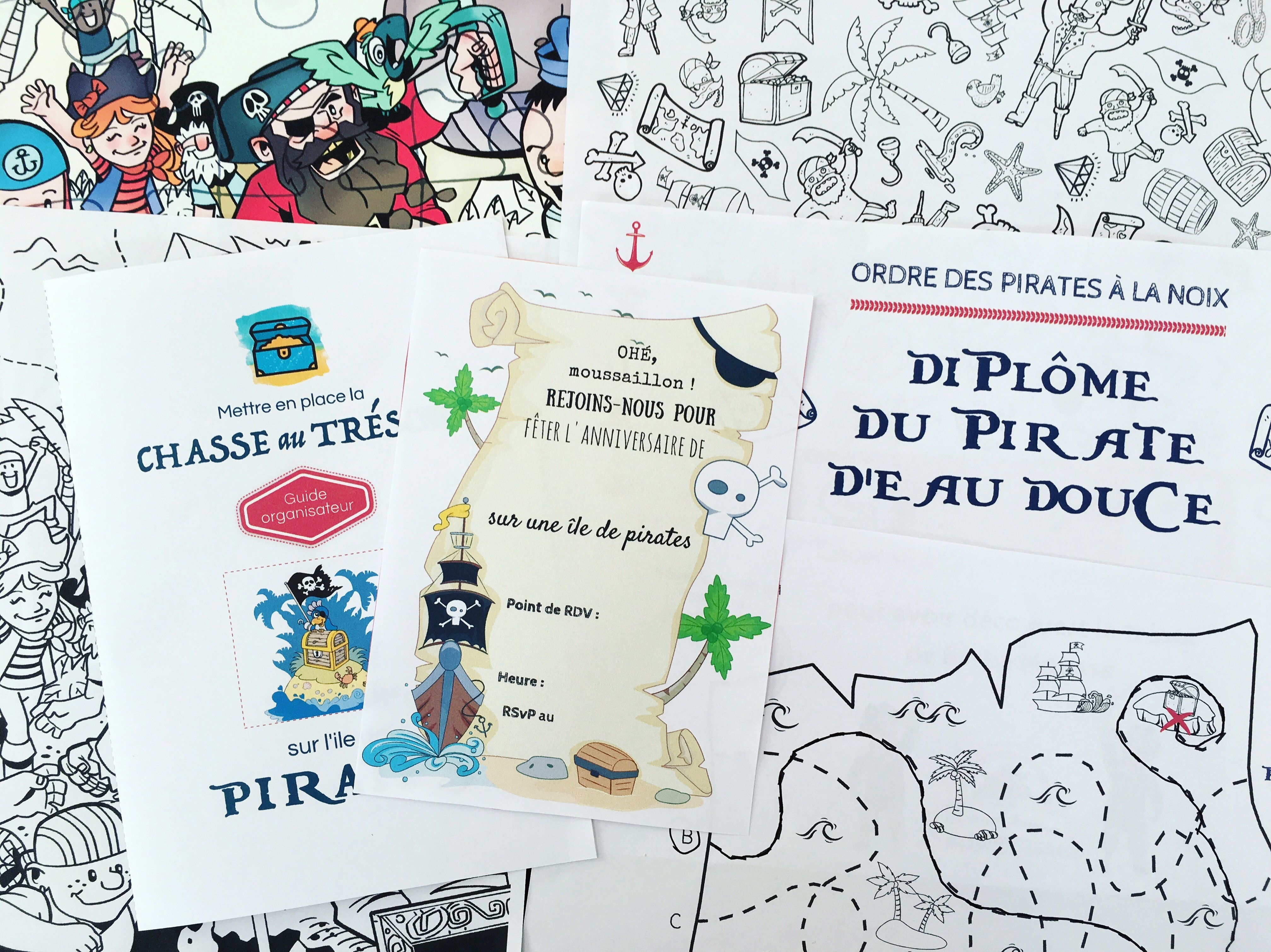 Chasse Au Trésor À Imprimer Pour Un Anniversaire De Pirates tout Histoires De Pirates Gratuit