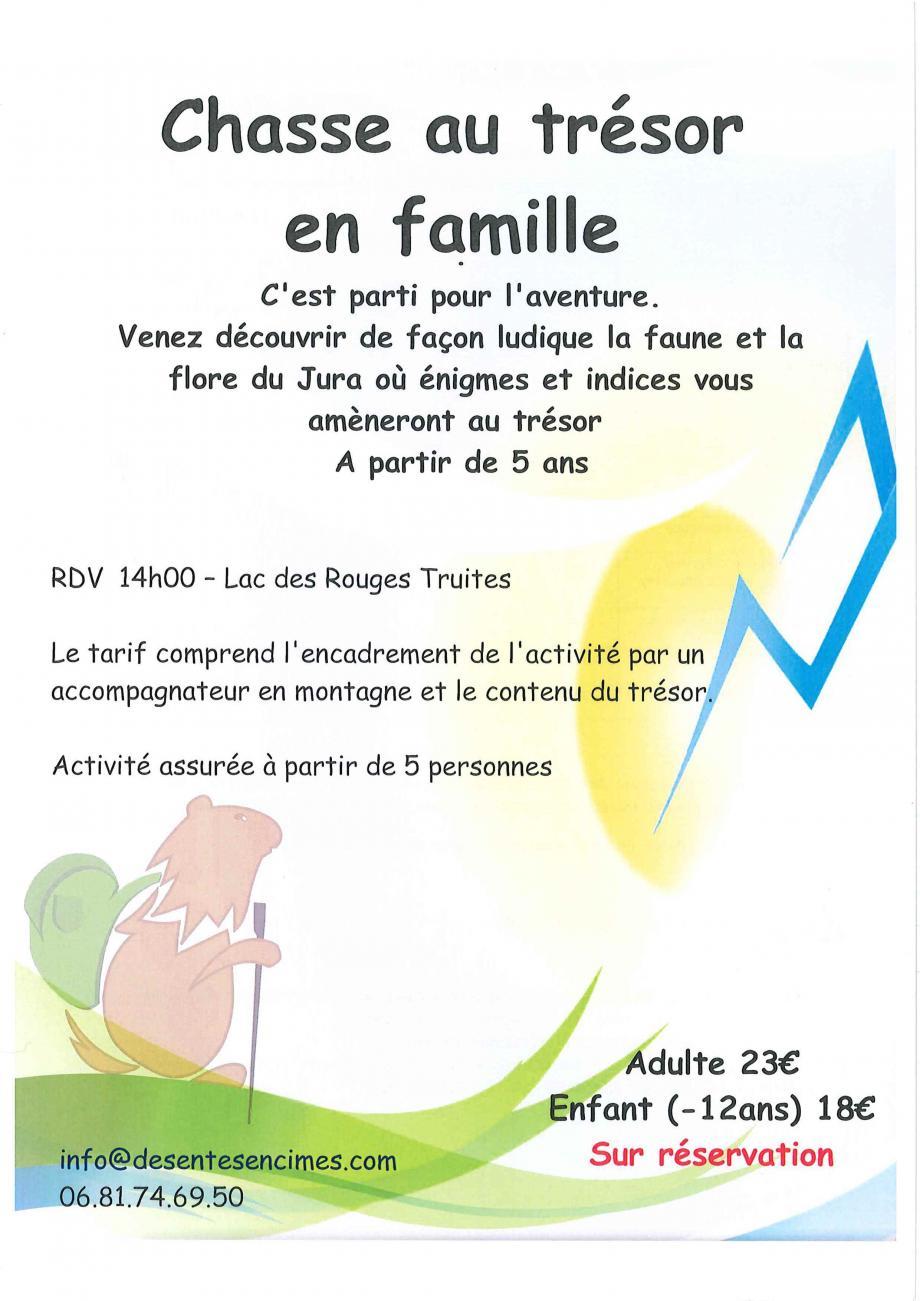 Chasse Au Tresor En Famille - Lac-Des-Rouges-Truites concernant Activité Chasse Au Trésor