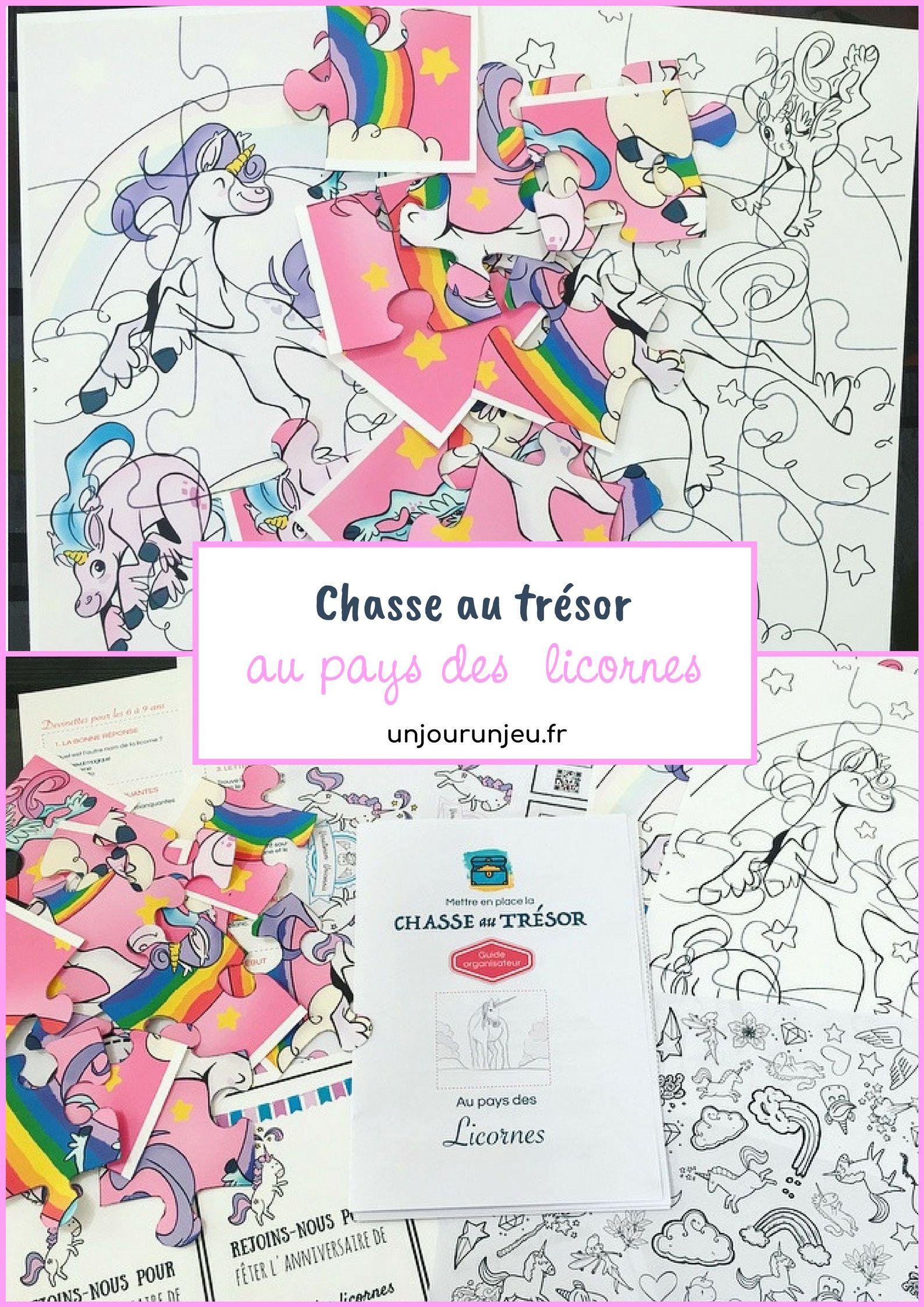 Chasse Au Trésor Sur Les Licornes À Imprimer   Chasse Au à Activité Chasse Au Trésor