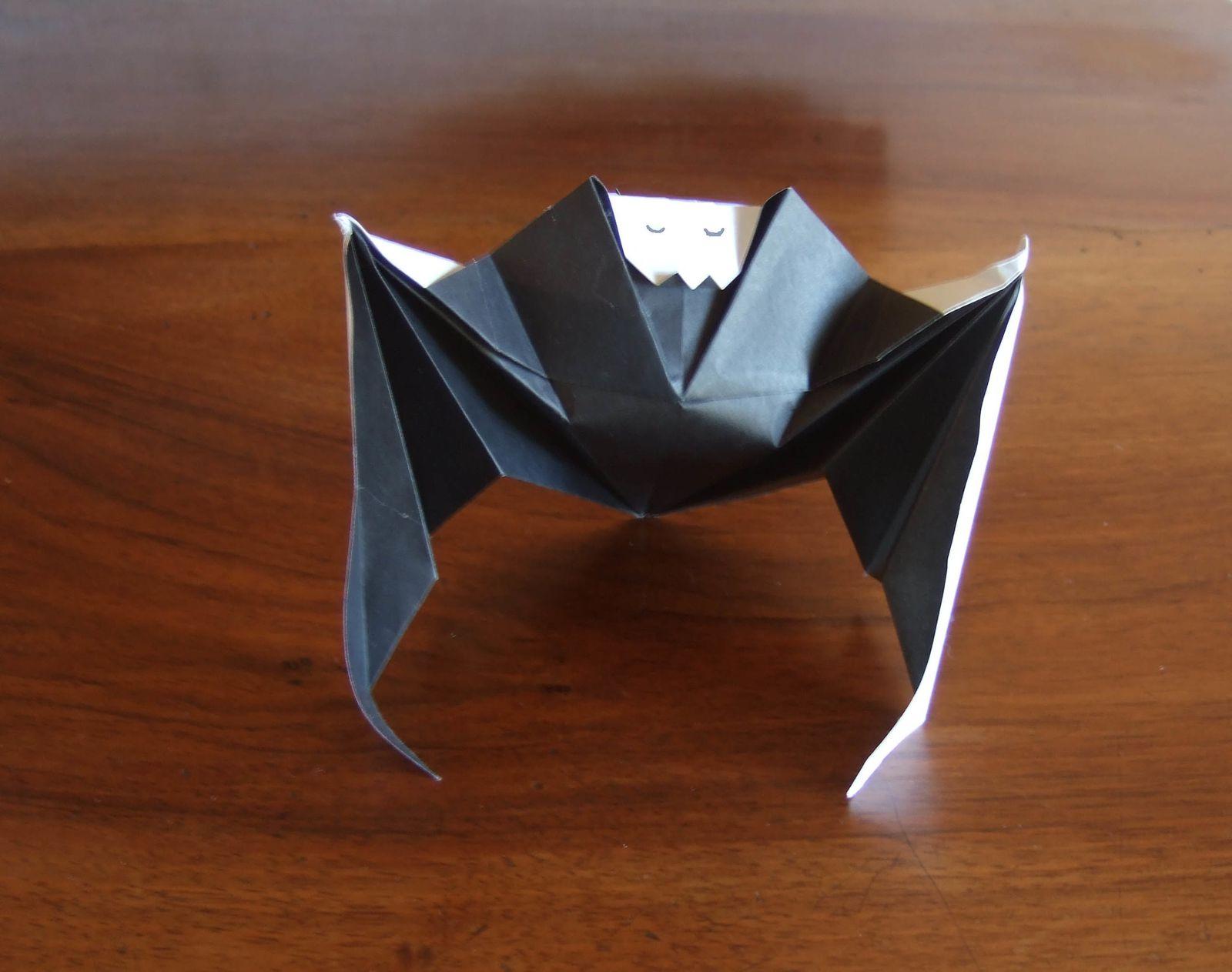 Chauve-Souris - Le Blog De Zac pour Origami Chauve Souris