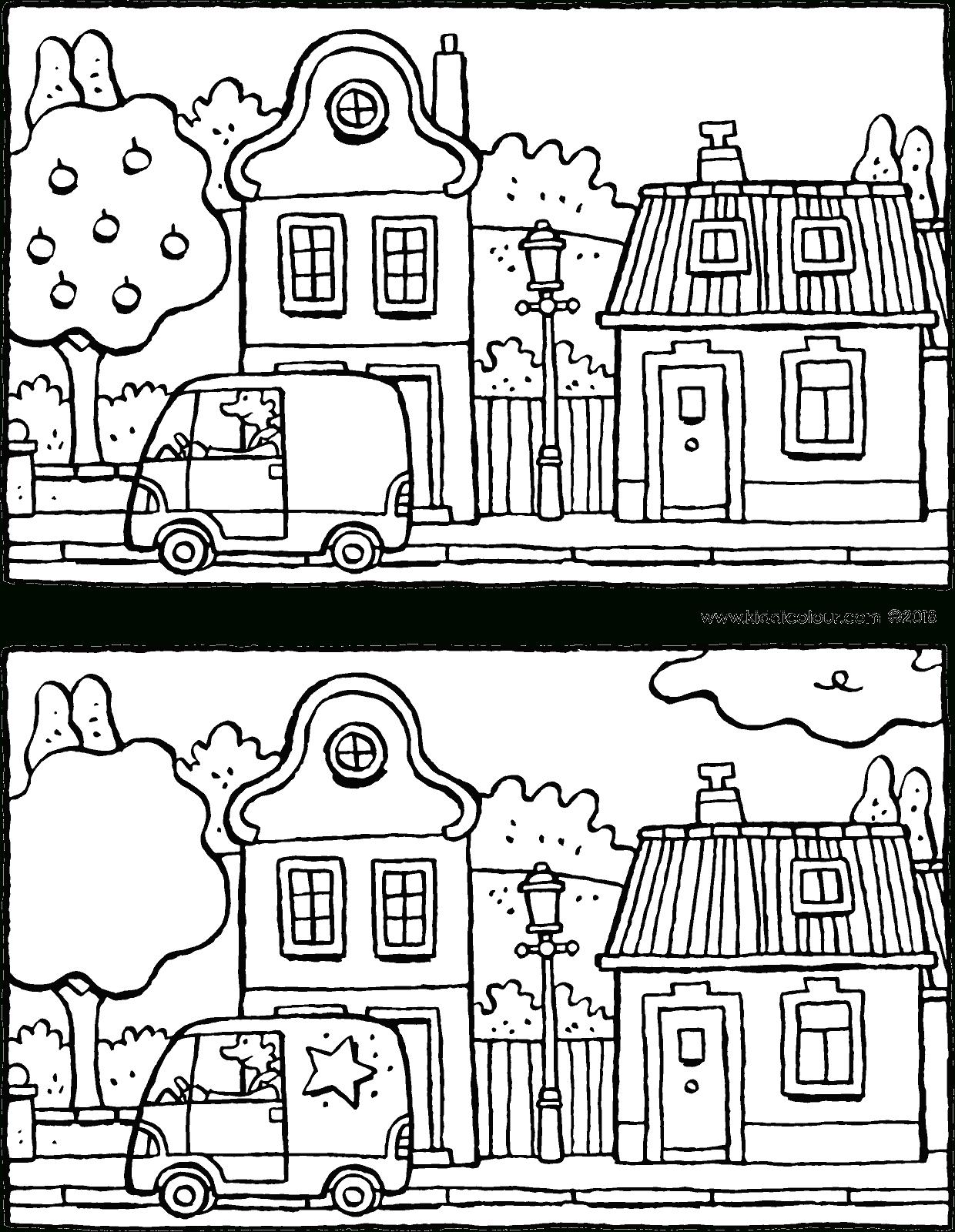 Cherche Les 5 Différences Dans Cette Rue - Kiddicoloriage encequiconcerne Les 5 Differences