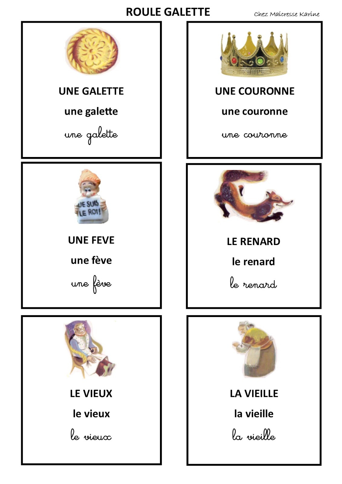 Chez Maicresse Karine: 2016 serapportantà Histoire Roule Galette