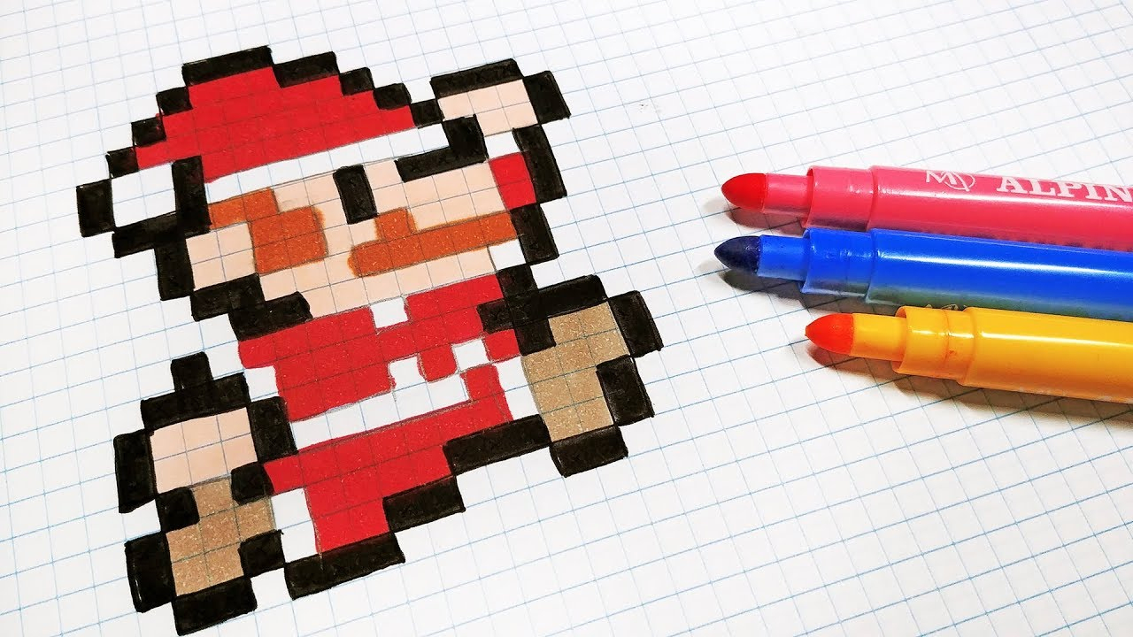 Christmas Pixel Art - How To Draw Santa Claus Mario Bros #pixelart concernant Pixel Art Pere Noel