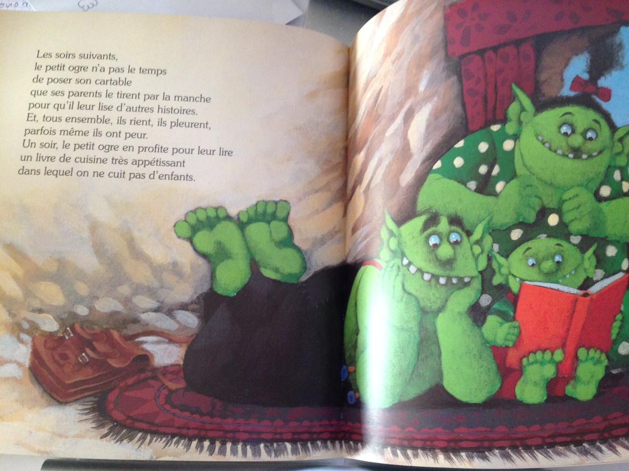 Chronique : Le Petit Ogre Veut Aller À L'école intérieur Le Petit Ogre Qui Voulait Apprendre À Lire
