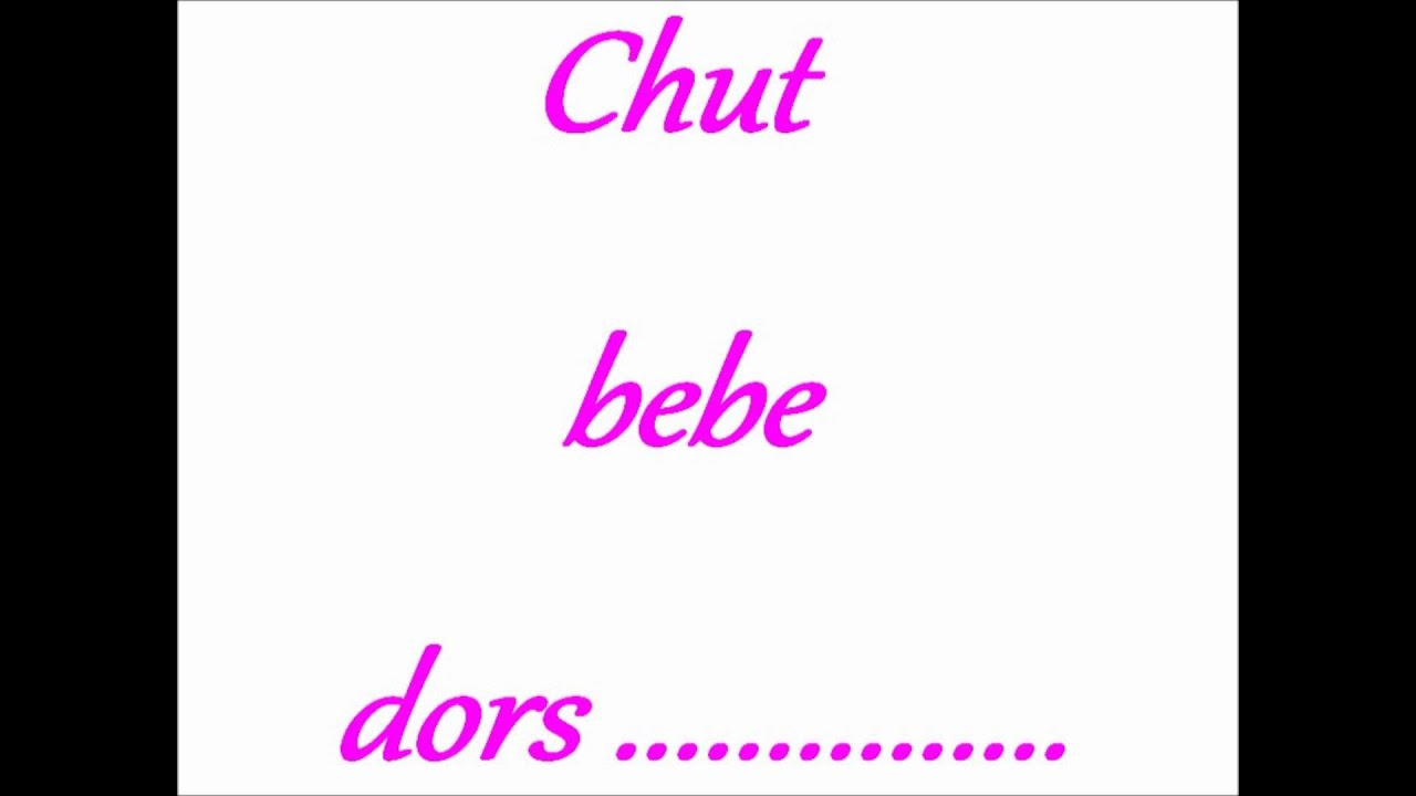 Chut Bebe Dors.wmv dedans Image Chut Bébé Dort