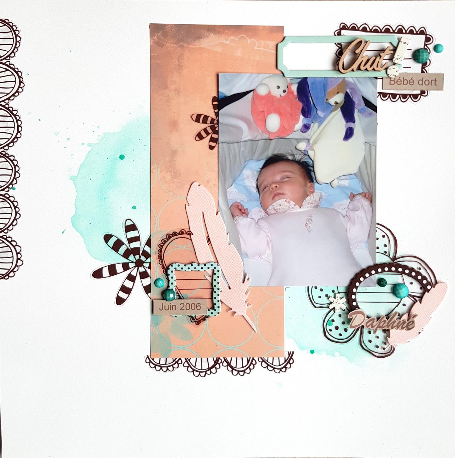Chut, Bébé Dort Une Page Pour Mon Album 2006 Et Défi Sketch serapportantà Image Chut Bébé Dort