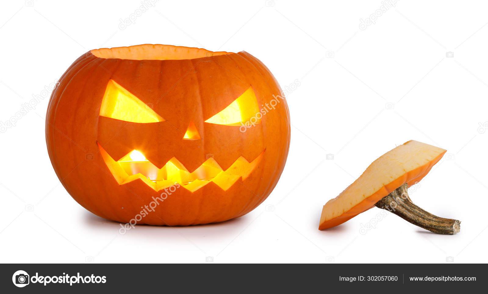 Citrouille D'halloween Sur Blanc — Photographie Yellow2J pour Photo De Citrouille D Halloween