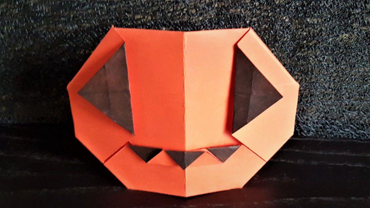 Citrouille Et Chauve-Souris D'halloween En Origami - Toc à Origami Chauve Souris