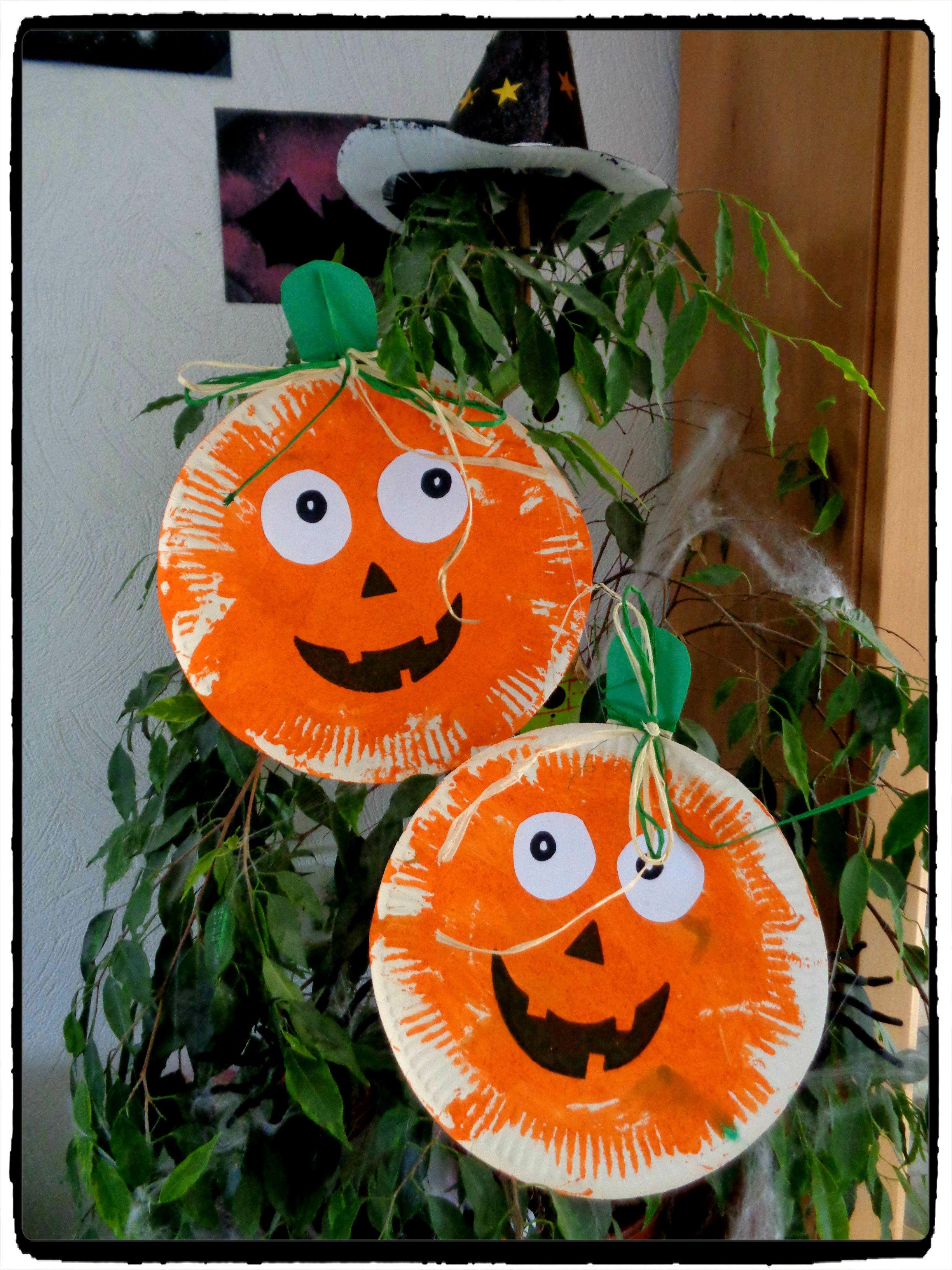 Citrouilles D'halloween En Assiette En Carton - | Bricolages tout Photo De Citrouille D Halloween