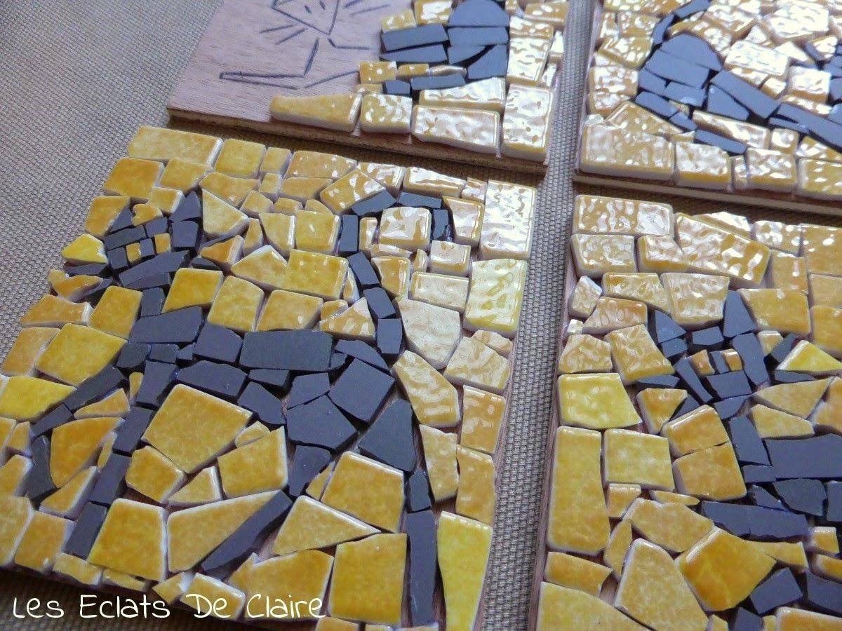 Claire Dans Tous Ses Éclats : [Diy] Mosaïque, Mode D'emploi. encequiconcerne Support Pour Mosaique