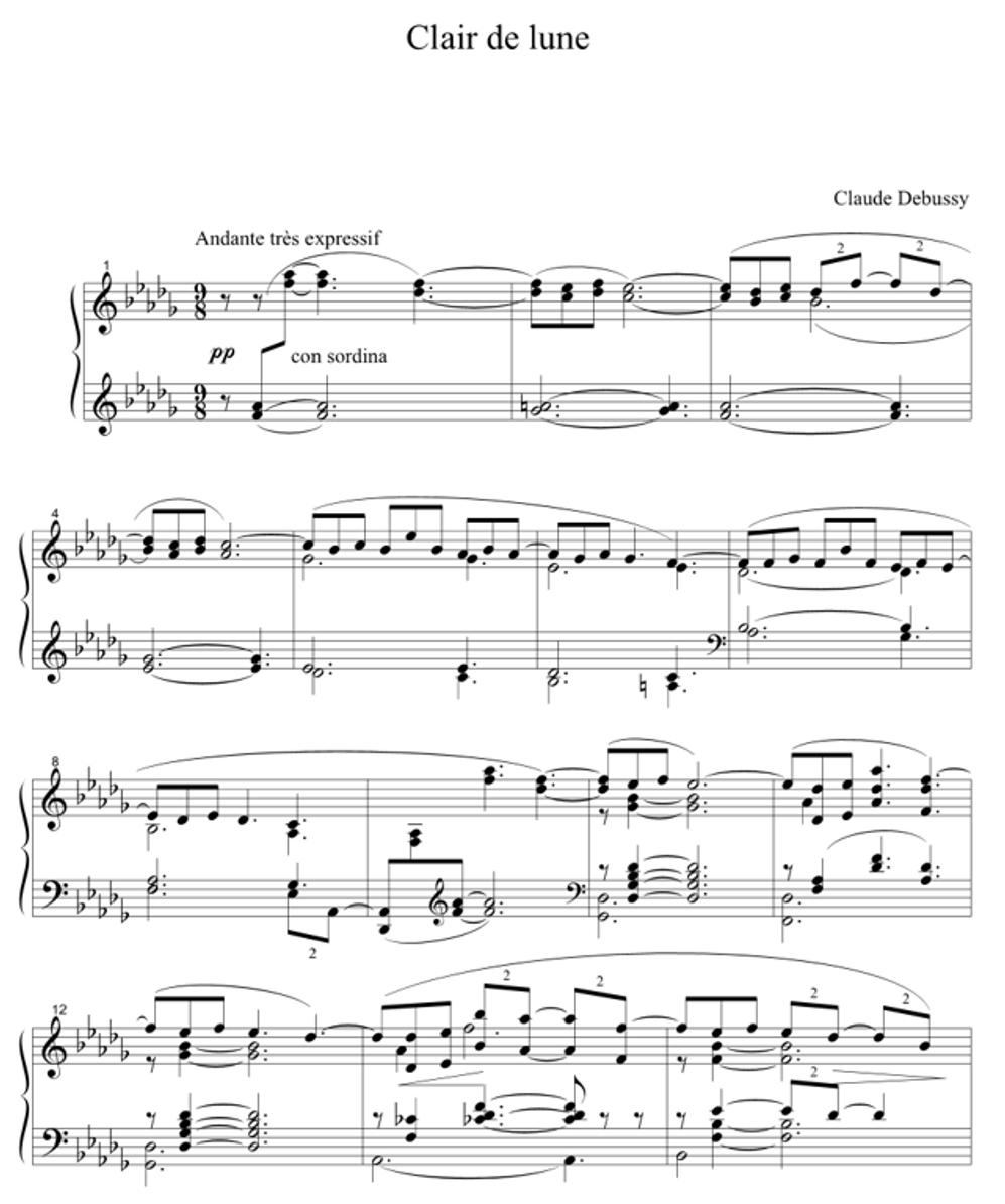 Claude Debussy – Clair De Lune | Genius serapportantà Clair De La Lune Lyrics