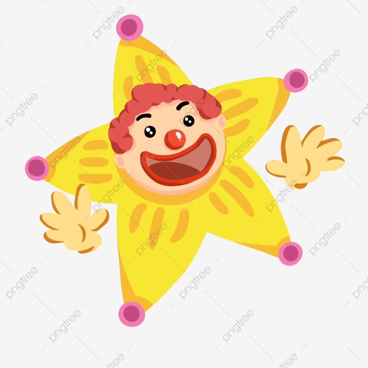 Clown Étoile Clown Clown Taquin Jaune Clown Étoile, Clown serapportantà Etoil Clown