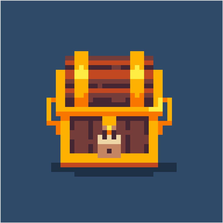 Coffre De Pirate En Pixel Art avec Pixel Art Pere Noel