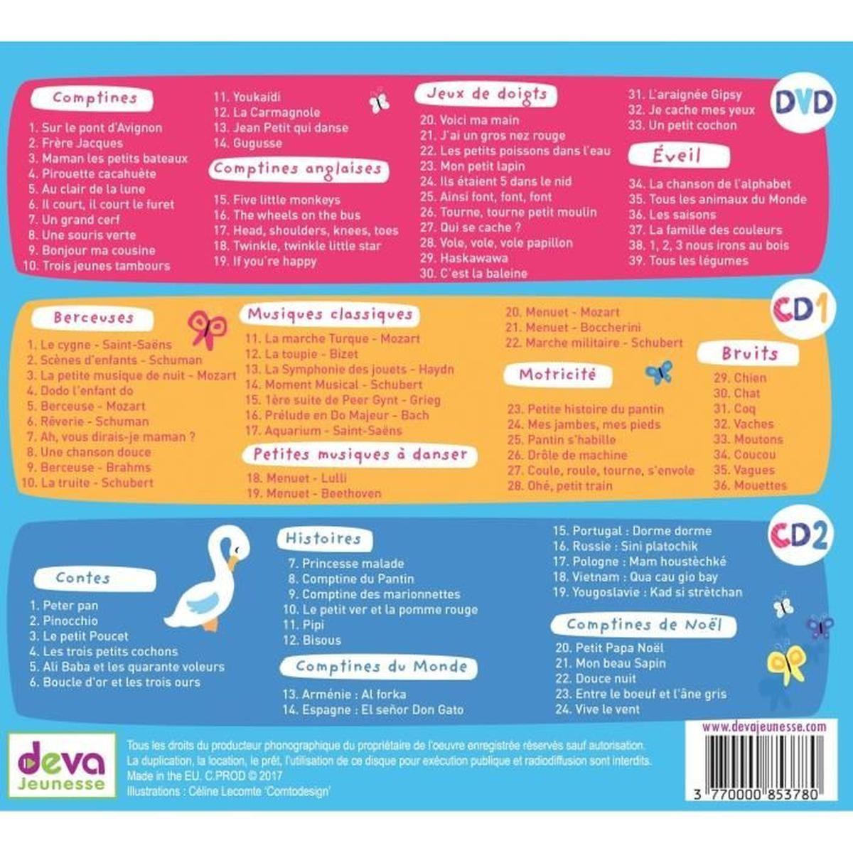 Coffret Des Parents Et Des Nounous - 1Dvd + 2Cd dedans Petit Moulin Chanson