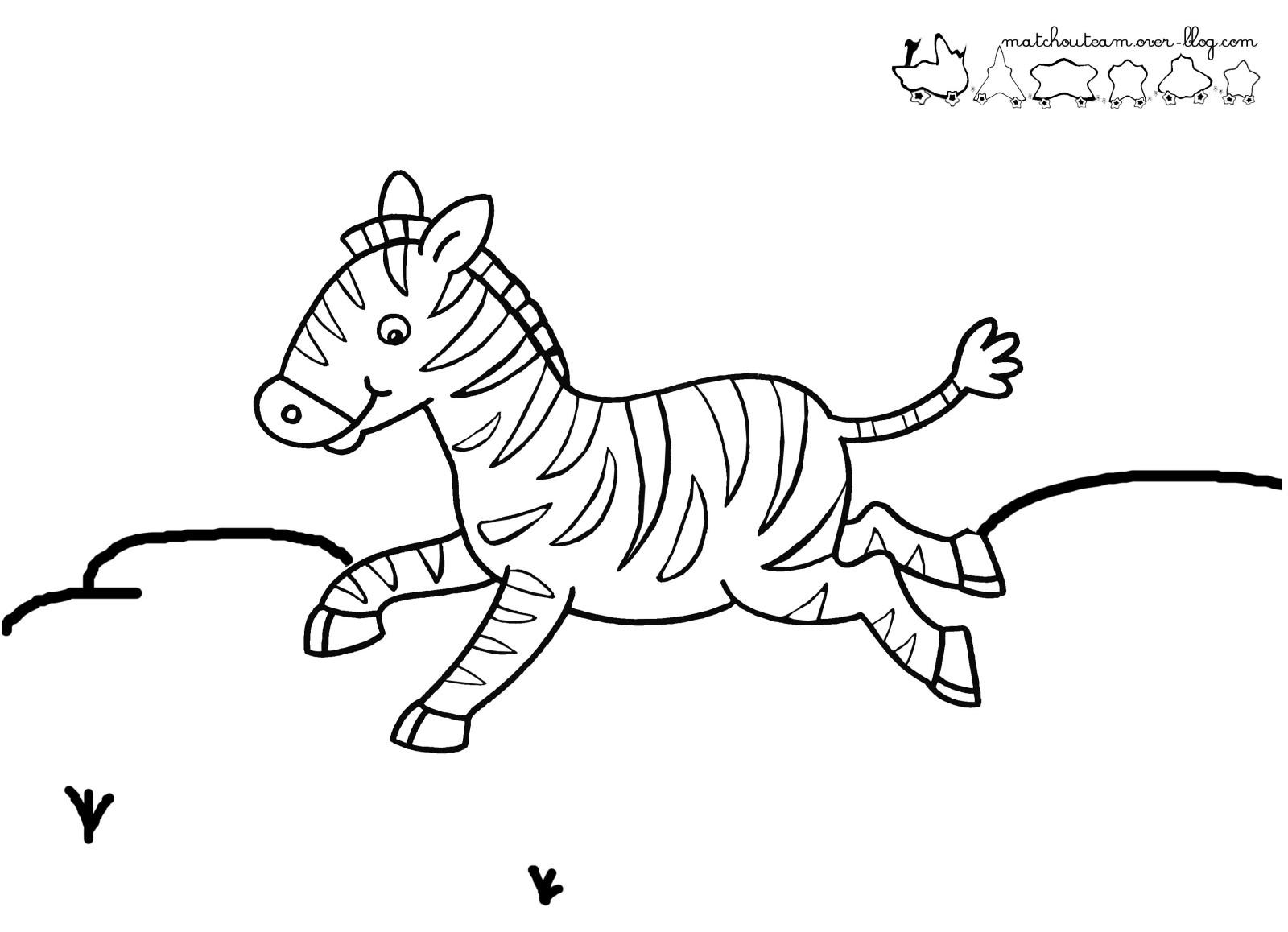 Coloriage À Dessiner Zou Le Zebre destiné Zou Coloriage